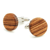 Tortilla Stripes - Zebra Wood Cufflink and TiePin Set