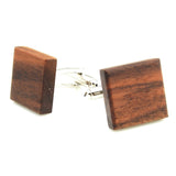 Natural Walnut Wood Cufflinks