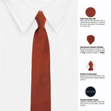 Charming Maroon Colored Microfiber Necktie For Men
