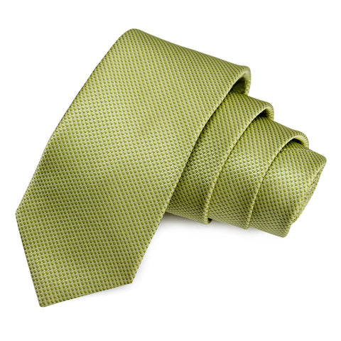 Sharp Green Colored Microfiber Necktie for Men | Genuine Branded Product from Peluche.in