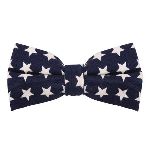 Peluche A Starry Rendezvous - Blue and White Bow Tie Linen