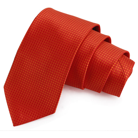 Voguish Red Colored Microfiber Necktie for Men | Genuine Branded Product from Peluche.in