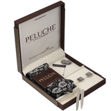 Snazzy Gift Box Includes 1 Neck Tie, 1 Brooch, 1 Pair of Cufflinks and 1 Pair of Collar Stays for Men | Genuine Branded Product from Peluche.in