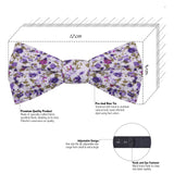 The Floral Affair - Purple Bow Tie