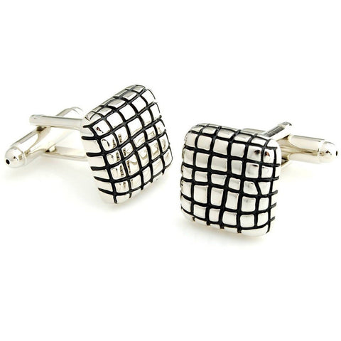 Checkered Enamel - Cufflinks