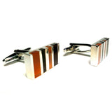 Stones 'n' Stripes - Cat's Eye Black Cufflinks