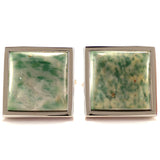 Mineralist - Green and White Cufflinks