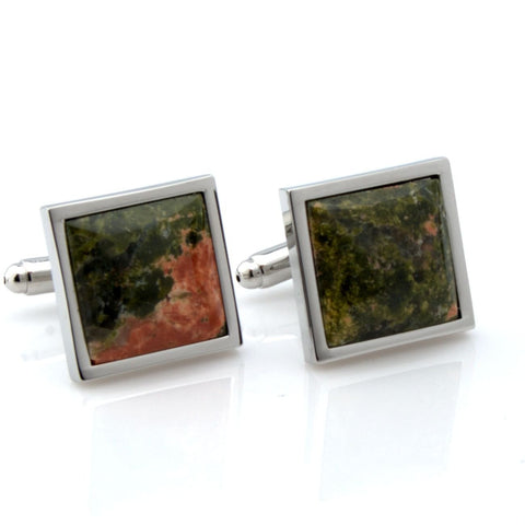 Mineralist - Green and Red Cufflinks
