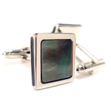 Rainbow - Abalone Shell Cufflinks