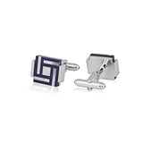 Stone Fusion Art - Blue Cufflinks