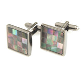 Peluche Superb - Abalone Shell Cufflinks Brass, Semi Precious, Stone Studded, Natural Certified Stone, Abalone Shell Stone