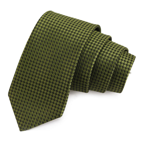 Enthralling Green Colored Microfiber Necktie for Men | Genuine Branded Product from Peluche.in