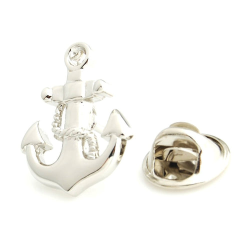 Peluche Anchor - Lapel Pin Brass, Metal