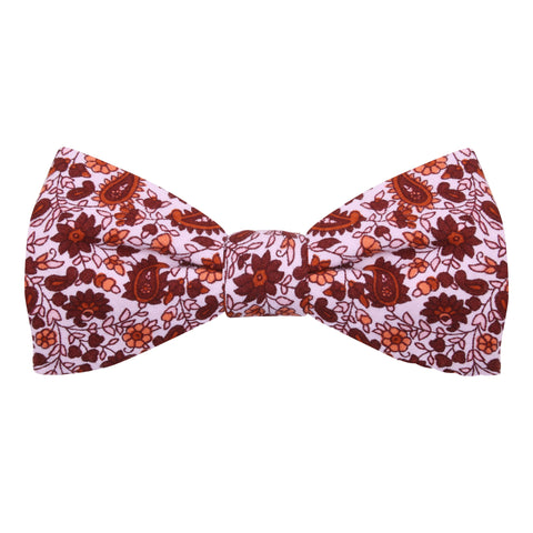 Peluche A Paisley Rendezvous - Maroon Bow Tie Cotton