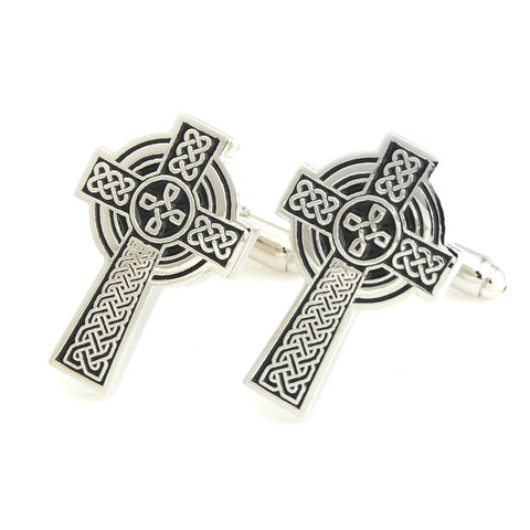 The Celtic Cross Black Cufflinks for Men | Genuine Branded Product from Peluche.in