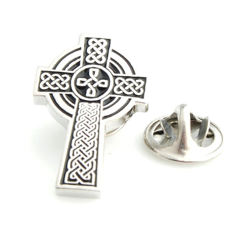 Peluche The Celtic cross - Lapel Pin Brass, Enamel