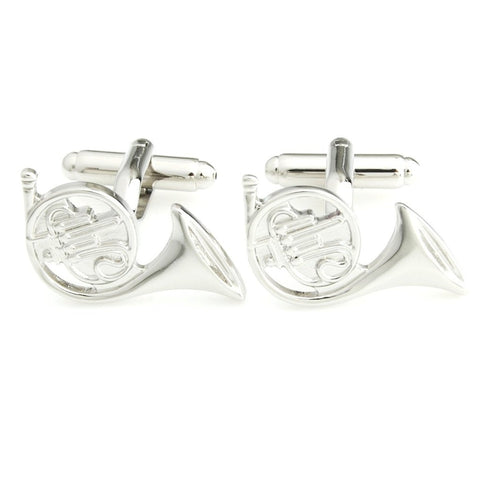 The Subtle Trumpet - Silver Cufflinks for Men | Genuine Branded Product from Peluche.in
