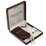 Elegant Gift Box Includes 1 Neck Tie, 1 Brooch, 1 Pair of Cufflinks and 1 Pair of Collar Stays for Men | Genuine Branded Product from Peluche.in