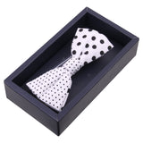 Polka Siblings - White Bow Tie