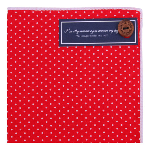 Red Kissed - Pocket Square