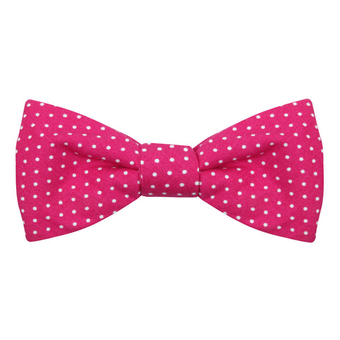 Peluche The Quirky Pink Polka Pre Tied Bow Tie Cotton