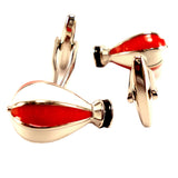 Hot Air Balloon - Red and White Cufflinks