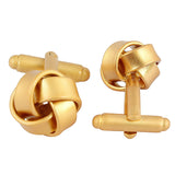 Classy Knot - Golden Matt finish Cufflinks