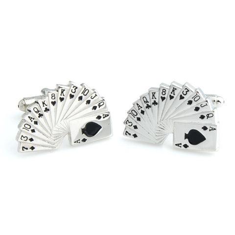 Play it Cool - Silver Cufflinks