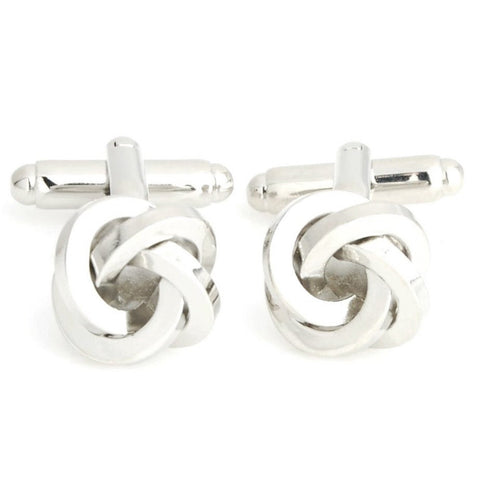 Peluche Elite Knot - Silver Cufflinks Brass, Metal