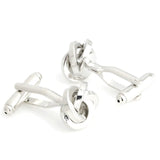 Elite Knot - Silver Cufflinks