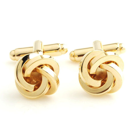 Peluche Elite Knot - Golden Cufflinks Brass, Metal