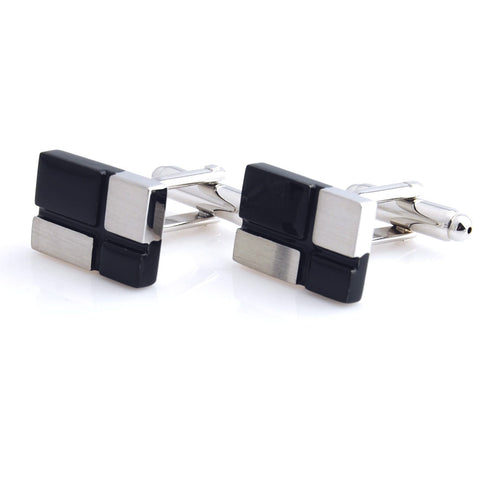 Peluche Check Bar - Cufflinks Brass, Enamel