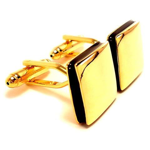 Peluche The Bling Square - Cufflinks Brass, Enamel