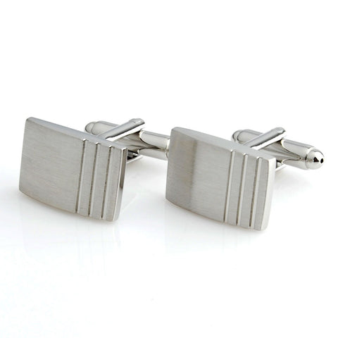 Peluche Striking Crystal Cufflinks Brass, Metal