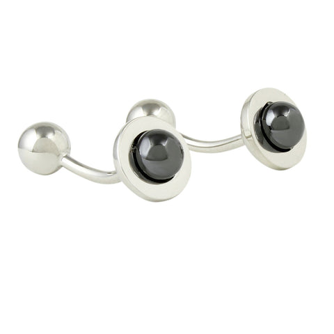 Peluche Dark Grey Bud - Cufflinks Brass, Metal