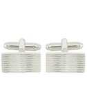 Curves to Kill - Silver Cufflinks