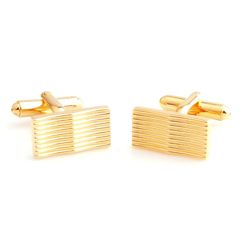 Peluche Curves to Kill - Golden Cufflinks Brass, Metal