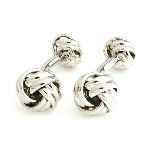 Peluche I'm the Knot - Silver Cufflinks Brass, Metal