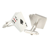 Gamble in Style - Red and Silver Cufflinks