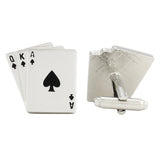 Gamble in Style - Black and Silver Cufflinks