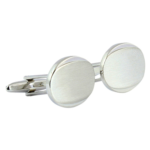 Peluche Simpilicity at it best - Silver Matt Cufflinks Brass, Metal