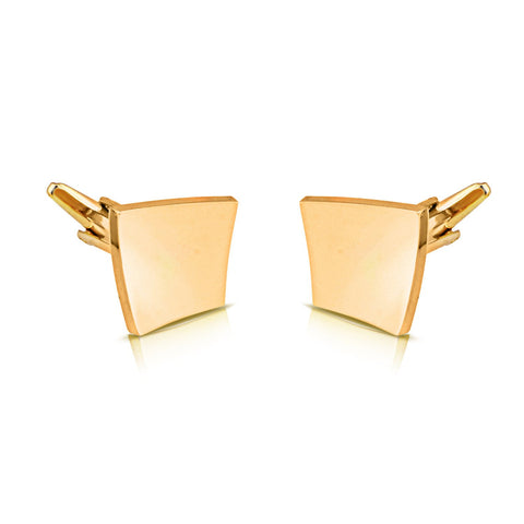 Peluche Killing Curve Golden Cufflinks Brass, Metal