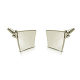 Peluche Killing Curve Silver Cufflinks Brass, Metal