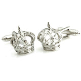 Peluche Crown - Silver Cufflinks Brass, Metal