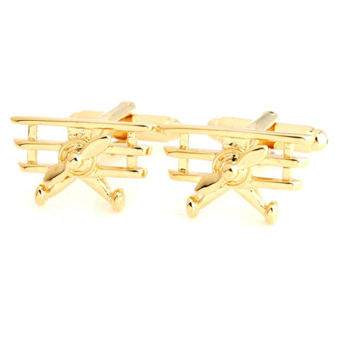 Golden Airplane Golden Cufflinks for Men | Genuine Branded Product from Peluche.in