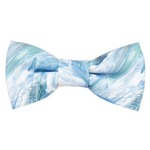 Ocean Blue blue Coloured Leatherette Bow Tie For Men | Genuine Branded Product Leatherette