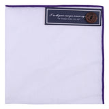Peluche The Purist - Pocket Square - White Linen