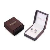 Silver Double Knot Brass Silver Cufflinks for Men