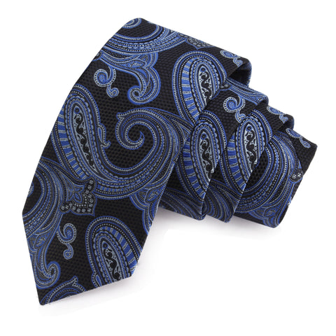 Urbane Black Colored Microfiber Necktie for Men | Genuine Branded Product from Peluche.in