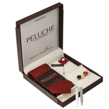 Table Tennis Bats Gift Box Includes 1 Neck Tie, 1 Brooch, 1 Pair of Cufflinks and 1 Pair of Collar Stays for Men | Genuine Branded Product from Peluche.in